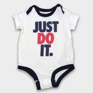 4/$20🥳 Nike Just Do It Navy Blue And White Onesie